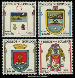 Ecuador Scott C334-C337 Mint never hinged.