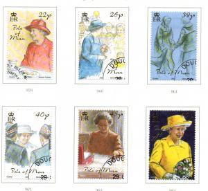 Isle of Man Sc 929-34 2001 Golden Jubilee QE stamp set used