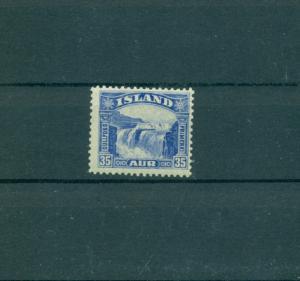 Iceland - Sc# 172. 1931 35 Aur Golden Falls. Mint LH. $24.00.