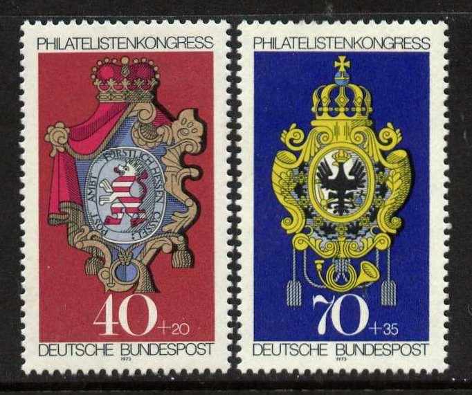 Germany B500-1 MNH Crest, Posthouse Signs