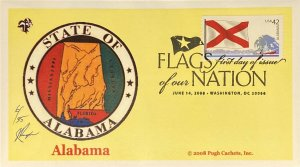Pugh Cachets 4274 Flags of Our Nation Stamp FOON Great Seal of Alabama