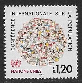 United Nations UN Geneva 1984 - Scott # 121 Mint NH Ships Free With Another Item