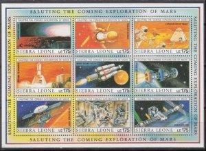 1990 Sierra Leone 1383-1391KL Project Deimos 36,00 €