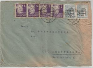 Cover: Frankfurt-Angermunde 5.1.1949 (SBZ) Russian Censor mark