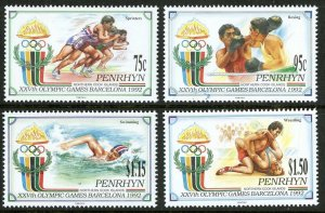 1992 Penrhyn Island 527-530 1992 Olympic Games in Barcelona 14,00 €