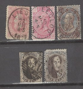 COLLECTION LOT # 3074 BELGIUM 5 STAMPS 1849+ CV+$24