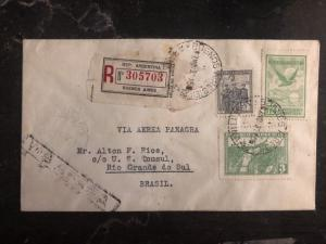 1931 Buenos Aires ARgentina First Flight Cover FFC To Rio Grande Brazil FAM 10