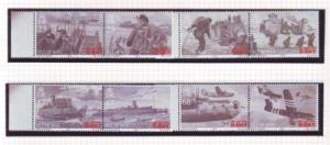Isle of Man  Sc 1028-31 2004 60th Anniversary D Day stamp set mint NH