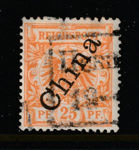German PO's in China an old 25pf overprinted