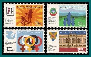 New Zealand 1975 Anniversaries, MNH  #567-570,SG1065-SG1067