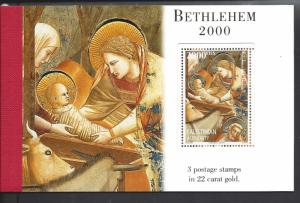 Palestinian Authority, 120a, Christmas 2000 Booklet, MNH