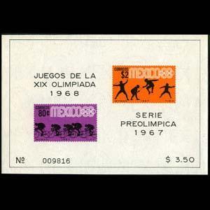 MEXICO 1968 - Scott# 985a S/S Olympics NH
