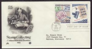 US Stamp Collecting 1986 PCS Typed FDC BIN
