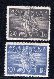 1948 Vatican Mail Aerea Tobia N°16/17 2 Values Used