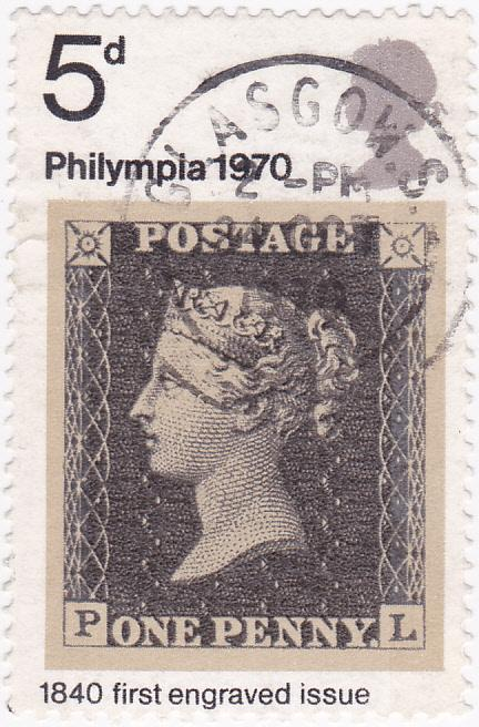 G.Britain 1970 Philympia 70 Penny Black 5d