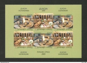 BOSNIA SERBIA-MNH IMPERFORATED BOOKLET-EUROPA CEPT-VERY RARE-NO CARD-2005