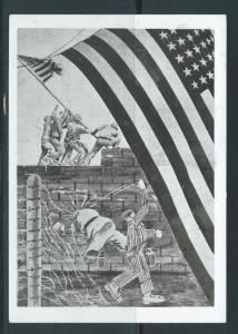 1946 Linz Austria Mauthausen Concentration Camp Postcard Cover Liberation by USA
