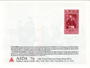 US ASDA 76 New York,NY Souvenir Card Mint