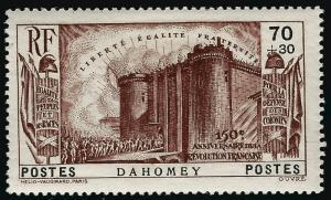 Dahomey French Revolution Semi-Postal Sc B4 VF Mint.hr...Make me an Offer!