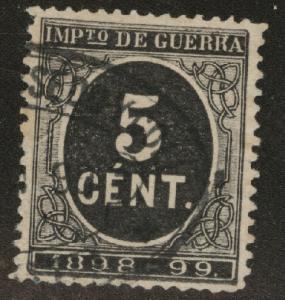 SPAIN Scott MR23 Used War Tax stamp 1898