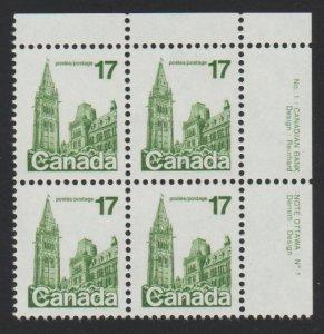 Canada 790 parliament buildings - MNH - Block