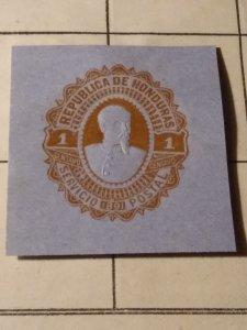 Honduras cut square mint hinged (centavos)