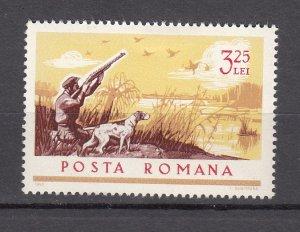 J27585 1965 romania hv of set mh #1814 sports dog