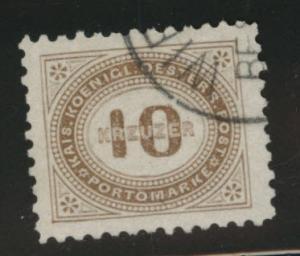 Austria Scott J7 Used from 1894-95 postage due set perf 10