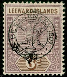 LEEWARD ISLANDS SG13, 6d dull mauve & brown, LH MINT. Cat £60.