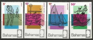 STAMPS-BAHAMAS. 1968. Tourism (Sport) Set. SG: 315/18. Mint Never Hinged.