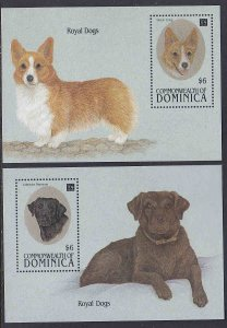 Dominica #1686-87 s/sheets F-VF Mint NH ** Dogs
