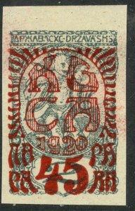 YUGOSLAVIA CARINTHIA PLEBISCITE 1920 45p on 2f Semi Postal Sc 4LB4 MH