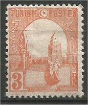 TUNISIA, 1919, MH 3c, Mosque Scott 31