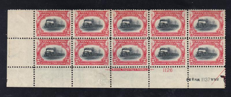 #295 Plate block of 10 VF/NH