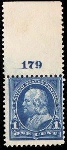 United States Scott 264 Mint never hinged.