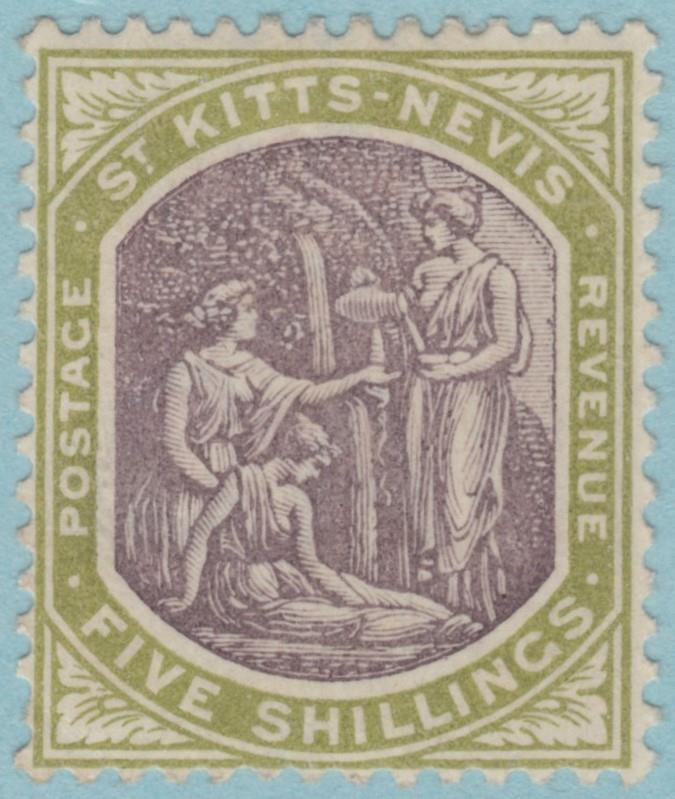ST KITTS & NEVIS 10 SG 10 MINT HINGED OG * NO FAULTS EXTRA FINE ! CV £70.00