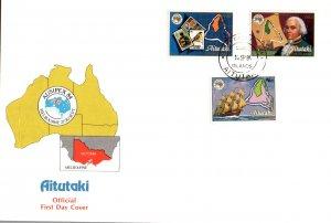 Aitutaki 351-353 U/A FDC