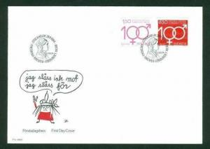 Sweden. FDC 1984. Fredrika  Bremer Association.  Engraver Cz Slania
