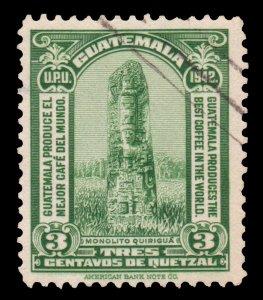 GUATEMALA STAMP 1942 SCOTT # 302. USED.