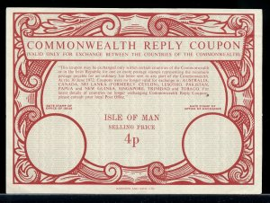 ISLE OF MAN 4p -- International Reply Coupon IRC