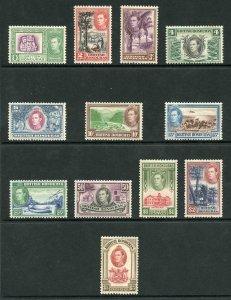 British Honduras SG150/61 1938 Set of 12  Fine M/Mint