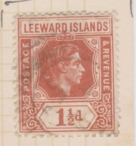 Leeward Islands Sc#106 Used Variety General Damage top of stamp