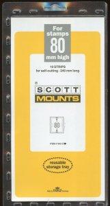 Scott (Prinz) Mounts,80(h) x 240(l), (240x80), Clear - 10 strips.