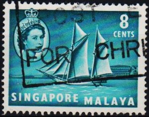 Singapore. 1955 8c S.G.43 Fine Used