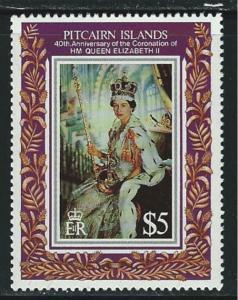 Pitcairn Islands SC383 Coronation of QueenElizabeth II -40th Anniversary MNH '93