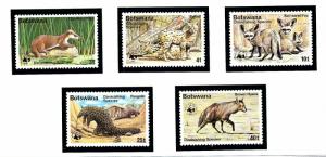 Botswana 182-86 MNH 1977 Diminishing Species