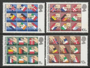 GB 1979 First Direct Elections to European Assembly MNH SG#1083-1086 S1112