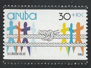 Aruba B1 30c + 10c Solidarity 1986 mnh