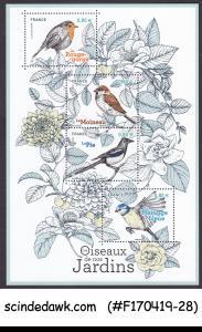 FRANCE - 2018 BIRDS OF OUR GARDEN - MINIATURE SHEET MNH