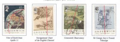 Great Britain Sc 1058-61 1984 Greenwich Meridian stamps used